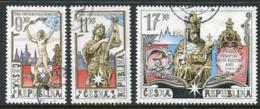 CZECH REPUBLIC 2000 Prague As Cultural Capital Used Singles Ex Block.  Michel 248-50 - Repubblica Ceca