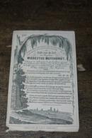 1854 Doodsprentje Diaken Muyshondt Zelzate Gent Hemelsoet - Religion & Esotérisme