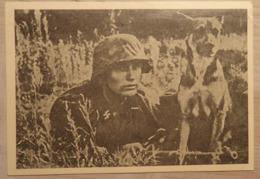 ALLEMAGNE - Carte De Propagante - WALLON! Engage Toi à La WAFFEN-SS -  L' Ordonance Et Son Chien -Etat: Pli Voir 2scans. - Guerra 1939-45
