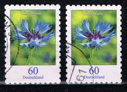 Bund 2019,Michel# 3481 O Blumen: Kornblume, Selbstklebend - BRD