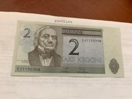 Estonia 2 Krooni Crispy Banknote 2007 - Estland
