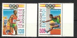 BURUNDI  1992 BARCELONA OLYMPIC GAMES  SET MNH - Summer 1992: Barcelona