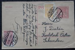 Postkarte 1923, MiF, WIEN Gelaufen Schweden - Briefe U. Dokumente