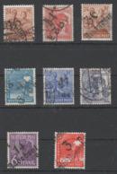 SBZ , 8 Bezirkshandstempelmarken , Teils Altsigniert - Sowjetische Zone (SBZ)