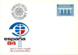 ESPANA 84 ISLE OF MAN STATIONERY POST CARD   (NOV190009) - Unclassified