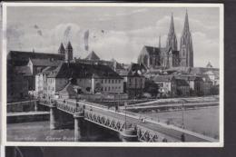 Regensburg Eiserne Brücke 1936 - Regensburg
