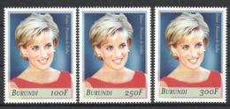 BURUNDI  1999  PRINCESS  DIANA   SET MNH - Angola