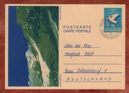 P 83 Taube Abb Alpe Matta, Schaan Nach Duesseldorf 1985 (82359) - Ganzsachen
