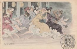 CPA Manège Carrousel Femme Lady Women Glamour Art Nouveau Cochon Porc Pig Collection Des Cent Illustrateur Léo LELEE - Autres Illustrateurs