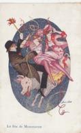 CPA Fête De Montmartre Manège Femme Lady Women Glamour Cochon Porc Pig Illustrateur X. SAGER Série N° 163 (2 Scans) - Sager, Xavier