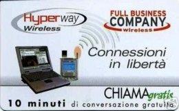 *CHIAMAGRATIS - N.637 - WIRELESS TELECOM ITALIA* - Scheda NUOVA (MINT) (DT) - Italia