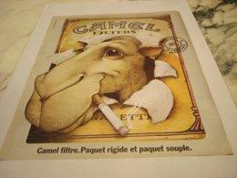 ANCIENNE PUBLICITE GRAND PRIX DE  L AFFICHE  CAMEL 1975 - Advertising Items