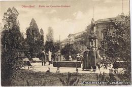 Ansichtskarte Düsseldorf Partie Am Cornelius-Denkmal - Belebt 1918 - Duesseldorf