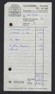 """REKENING * RESTAURANT """" MELI """" * ADINKERKE * DE PANNE * 1968 * 16 X 8.50 CM - Bélgica"""
