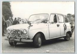 Voiture Photo Originale Cartonnée Renault 4L - Voitures De Tourisme