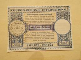 Coupon Réponse International 1,50 Peseta Surchargé 4 Pesetas 1952 (2559) - Sin Clasificación