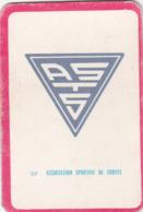 Carte Foot-ball Shoot Miroir-Sprint - Ecusson Club France - N°87 Association Sportive De Troyes - Trading Cards