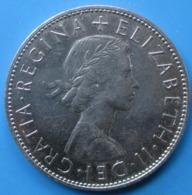 """ROYAUME-UNI,  1/2 Crown Élisabeth II, 1ère Effigie, Sans """"BRITT:OMN:"""", 1970, SPL+ - 1902-1971 : Monete Post-Vittoriane"""