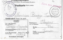 Ww2 - 2ème Guerre - Prisonnier - Censure Illustree Chamois - Stalag 306 Disciplinaire - WW II