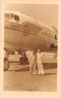 "08805 ""AEROP. ASMARA ERITREA - AEREO DA TRASPORTO MILITARE"" ANIMATA FOTO ORIG. - Aviazione"