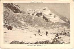 74 Haute SAVOIE Alpinistes Sur Le Glacier Du Mont Blanc édition De L'agenda PLM 1925 - Otros Municipios
