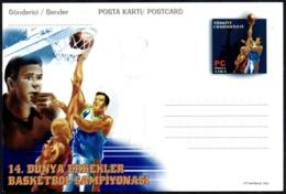 TURKEY 2002 - WORLD BASKETBALL CHAMPIONSHIP - MINT STATIONERY - Pallacanestro