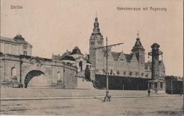 Stettin - Hakenterrasse Mit Regierung - 1917 - Pommern