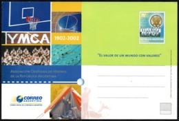 BASKETBALL - ARGENTINA 2002 - YMCA - POSTAL CARD - STATIONERY - Pallacanestro