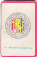 Carte Foot-ball Shoot Miroir-Sprint - Ecusson Club France - N°105 Union Sportive De Valenciennes-Anzin - Trading-Karten