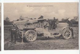 Militaria 1ère Guerre Mondial 14-18 Canon Automobile Pour Tir Contre Les Ballons - Guerra 1914-18