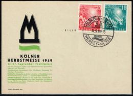 Bund 1949,Michel# 111 - 112 O Auf Messeankündigungskarte - Briefe U. Dokumente