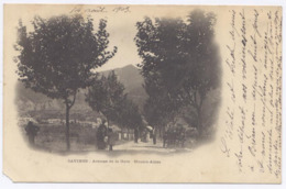 SAVINES Le Lac - Avenue De La Gare , 1903- Dos Simple - France