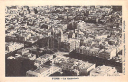 Tunisie TUNIS La Cathédrale (vue Aérienne) (Cliché De La Compagnie Aérienne Française )*PRIX FIXE - Tunisia