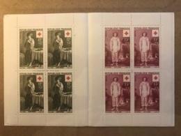 Lot De 10 Carnet Croix Rouge ** France : 1956 à 1960, 1965, 1966, 1968, 1970, 1971 - Cote 375 Euros Proposés à 10% Cote - Cruz Roja