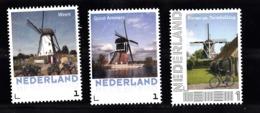 Nederland  Persoonlijke Zegel: Molen. Mill : Weert + Groot-Ammers + Terschelling - Periodo 2013-... (Willem-Alexander)