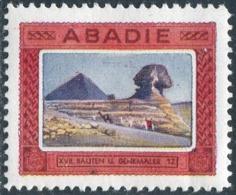 ANCIENT ARCHITECTURE ABADIE Bauten Denkmäler Egypt Sphinx Pyramid Camel Vignette Poster Reklamemarke Cigarettes Tobacco - Arquitectura