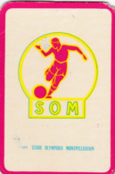 Carte Foot-ball Shoot Miroir-Sprint - Ecusson Club France - N°122 Stade Olympique Montpelliérain - Trading-Karten
