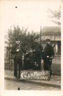 """CARTE PHOTO : LE BOURGET CAMPAGNE 1914 """" RETOUR DE DUNKERQUE """"  SOLDATS GUERRE MILITARIA Famille Louis Riche Cessenon - Le Bourget"""