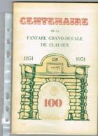 Centenaire De La Fanfare Grand-Ducale De Clause 1851/1951 - Cartes Postales