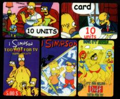 Italie / Anglais / USA ? - 5 Cartes Des Simpson - ???? (verso Voir Scan) - Colecciones