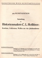 CATALOGUE VENTE ENCHERES 1934 VIENNE COLLECTION PEINTRE MILITAIRE  EMPIRE UNIFORME CASQUES COIFFURES ARMES - Catalogues