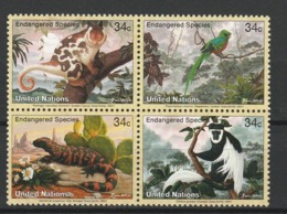 NATIONS UNIES (New York) 2001 YT N° 839 à 842 ** - Unused Stamps