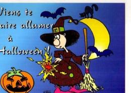 Collection Halloween,Viens Te Faire Allumer A Halloween,sorciere, Citrouille,balai,chat,chauve Souris,illustrateur Matem - Halloween