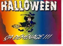 Collection Halloween,Ca Demenage,sorciere,balai,chat,chauve Souris,illustrateur Matem - Halloween