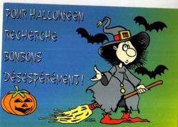 Collection Halloween,Recherche Bonbons Deseperement,sorciere,citrouille,balai,chauve Souris,illustrateur Matem - Halloween