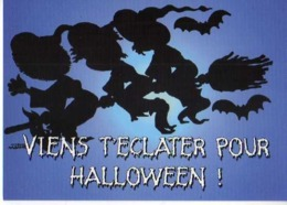 Collection Halloween,Viens T'eclatert,sorciere,balai,chauve Souris,illustrateur Matem - Halloween
