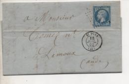 Ecrite à RIOLS (Hérault) Cachet Poste De SAINT-PONS Du 18 Juillet 1862 - 1849-1876: Période Classique