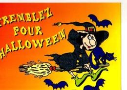 Collection Halloween,Tremblez Pour Halloween,sorciere,balai,chauve Souris,chat,illustrateur Matem - Halloween