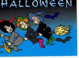 Collection Halloween,,sorcieres,balai,chauve Souris,illustrateur Matem - Halloween