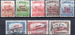 Hongrie: 8 Valeurs De La Série Yvert N° 245/263° - Used Stamps